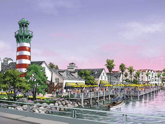 This is an artist's rendering of the proposed apartment and commercial project at Fisherman's Wharf. It was provided by the team of developers who proposed the project.