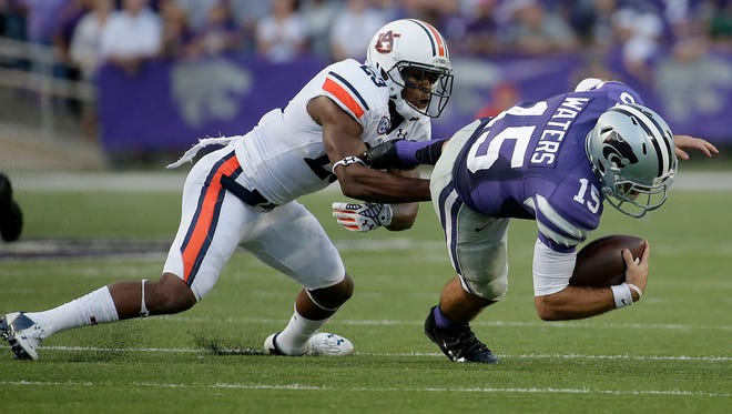 Safety Johnathan Ford leads Auburn with 21 tackles through three games this season.