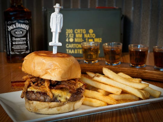 The Tennessee Burger with Jack Daniels honey glaze