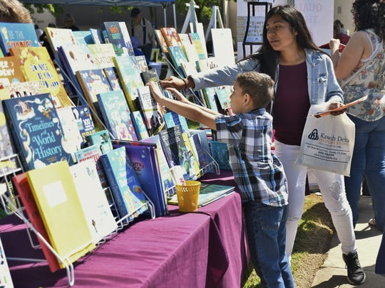 Leadership Visalia and Tulare County Branch Library teamed up to host the inaugural Book Festival at the Visalia library. The book festival featured acclaimed authors, celebrity story tellers, musicians, crafts and food trucks.