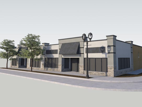 This rendering depicts the plans to remodel the former