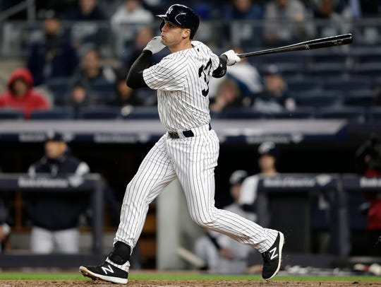 In this April 19, 2017, file photo, the Yankees' Greg