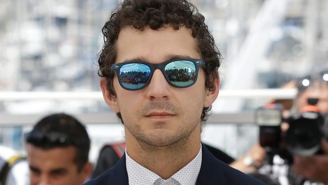 Actor Shia Labeouf poses for photographers during a photo call for the film American Honey.