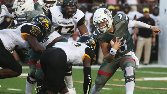 Smith (13) exits ULM with 3,857 career passing yards, 31 touchdowns and 23 interceptions in 17 starts.
