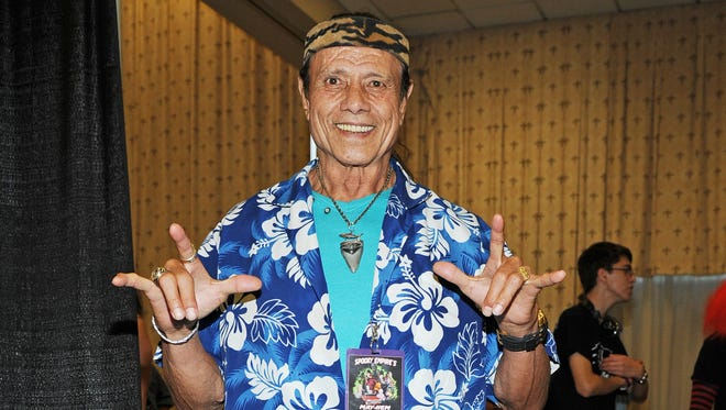 Jimmy 'Superfly' Snuka appears at the Spooky Empire Mayhem Horror Convention at the DoubleTree Hotel on Saturday, May 31, 2014, in Orlando, Fla.