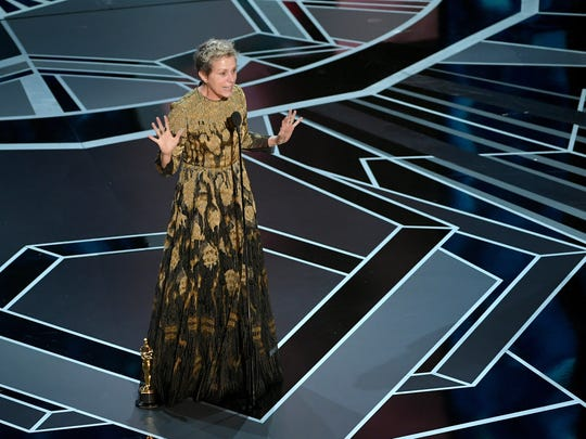 Frances McDormand accepts the award for best actresson March 4, 2018.