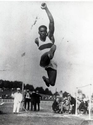 In 1924 Cincinnatian DeHart Hubbard became the first African American man to win a Gold Medal in Olympic competition. His event: the long jump.