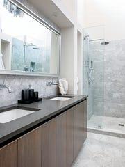A luxe bathroom.