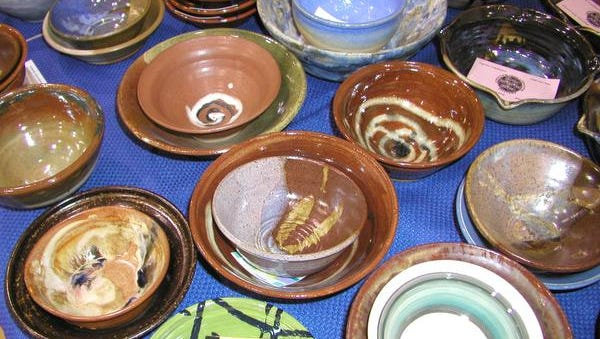 Empty clay bowls become vessels of comfort in the Perkins Center for the Arts holiday fundraiser.