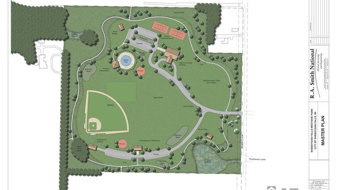 Rendering of proposed new park in Sheboygan Falls.