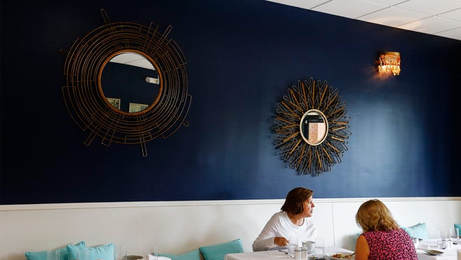 Afternoon guest enjoy lunch at the newly opened Blue Honey Bistro in Germantown.