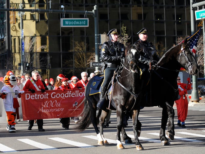 The Detroit Goodfellows stage their 101st parade on