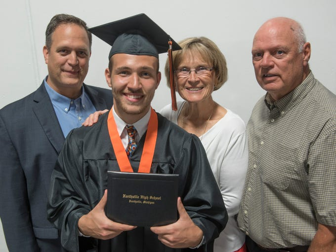 Dean Hubbert graduates from Northville High School,