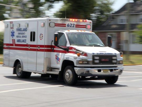 Vineland EMS ambulance,  Monday, Jun. 30, 2014.  Staff