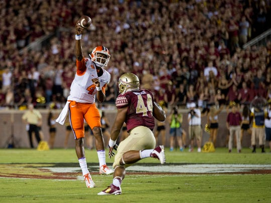 Clemson QB Deshaun Watson will look to snap the Tigers' three-game losing streak to FSU in 2015.