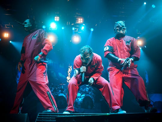 Slipknot perform at The Rockstar Energy Mayhem Festival on Friday, July 6, 2012, in Phoenix.