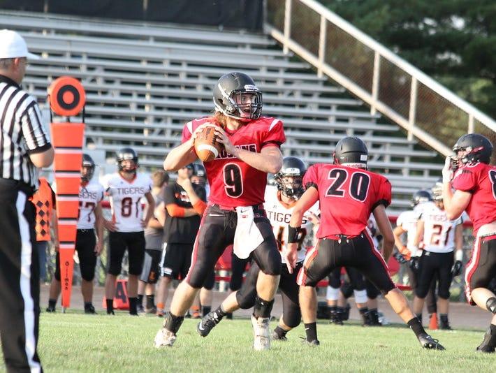 East Central quarterback Luke Patton vs. Lawrenceburg on Aug. 14
