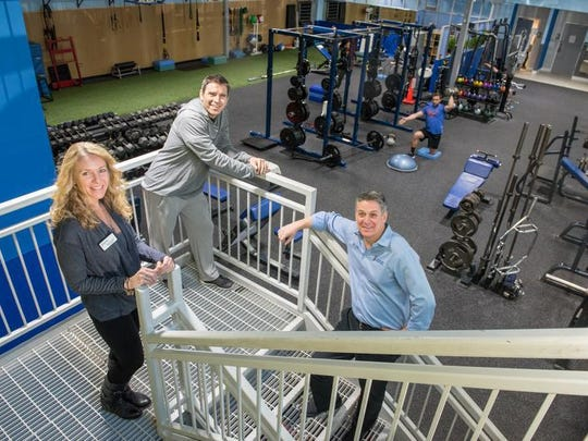 From left, the siblings who manage Eastpointe Health & Fitness in Atlantic Highlands: Kim Garrity, Assistant Manager and Nutritionist, her brother Paul Mazzella, owner and manager of the gym, and their brother Jay Mazzella, Clinical Director.