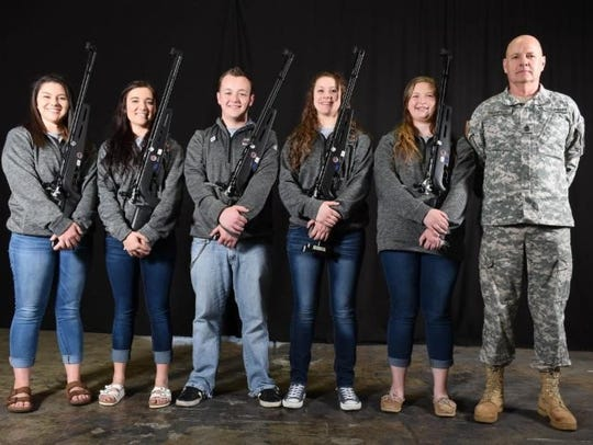 Ozark High School rifle team recently competed in national