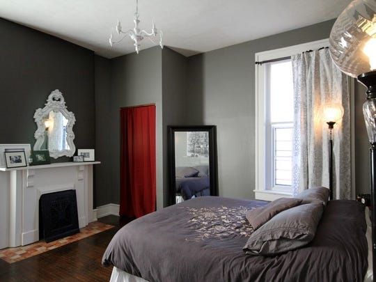 A bedroom in the McMahans' Old Louisville home.