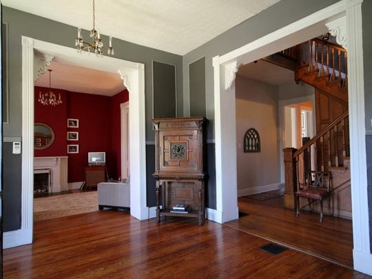 The foyer of the McMahans' Old Louisville home.