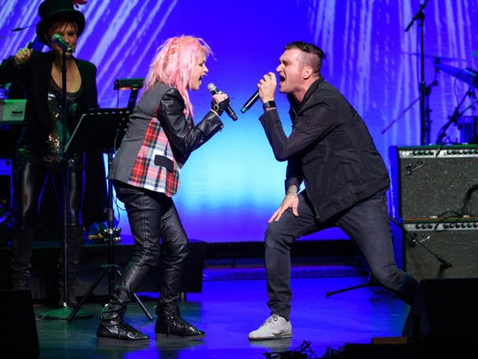 """Cyndi Lauper invites show-biz friends to perform at her annual """"Home for the Holidays"""" shows; proceeds fund her foundation's work to end homelessness among LGBT youth."""