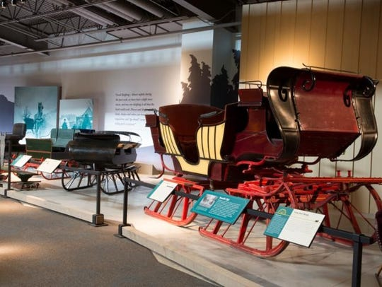 While on-site for a sleigh ride, guests are encouraged to check out the Wade House's collection of sleighs, bob sleds, cutters and coasting bobs in the Wesley W. Jung Carriage Museum.
