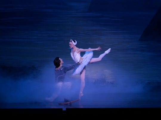 """Scene from a """"Swan Lake"""" performance."""