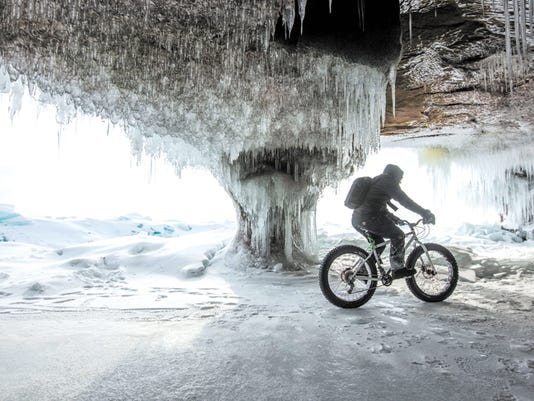 Fat biking Madeline Island