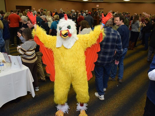 The mascot for the 13th Annual Chicken Soup Cook-Off held at Issac Wise Center on Jan. 29, 2017.