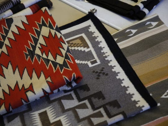 Approximately Navajo 200 rugs will be auctioned this weekend at the Farmington Museum at Gateway Park as part of an annual fundraiser for the museum.