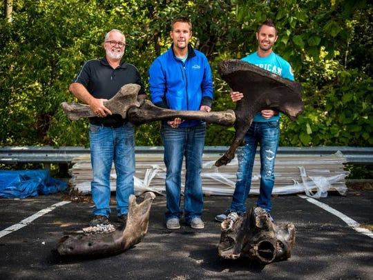 From left, Mike Siereveld, Steve Hunderman and Joe