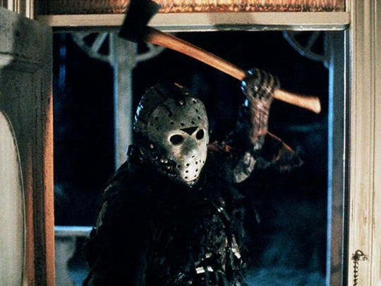 "A scene from the film ""Friday the 13th."" The boxset"