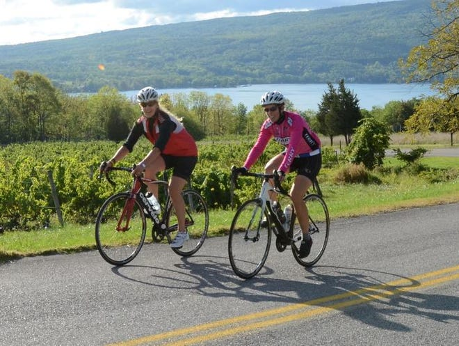 The Wine Country Ramble is an all-women, two-day biking event that caps each day of riding with wine tastings and a party at the end. This year's ride is set for Sept. 14 and 15 in Canandaigua. Photos by Ginn Lee and Onno Kluyt