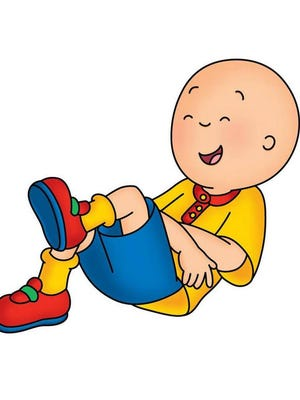 """Why is Caillou laughing? Because he's getting ready to ruin your day. His show """"Caillou"""" appears on PBS Kids."""
