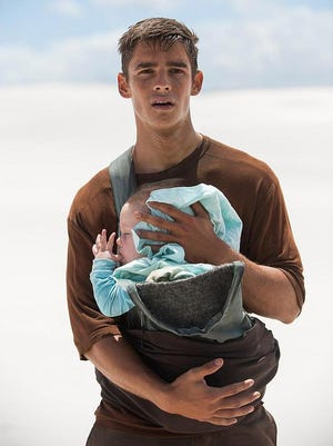 "Brenton Thwaites in a scene from ""The Giver."""
