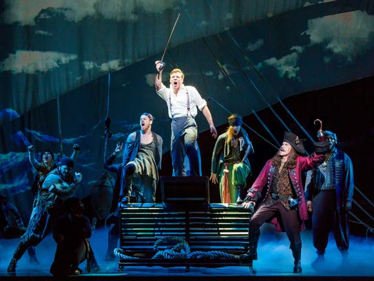 """The cast of """"Finding Neverland,"""" a music based on J.M."""