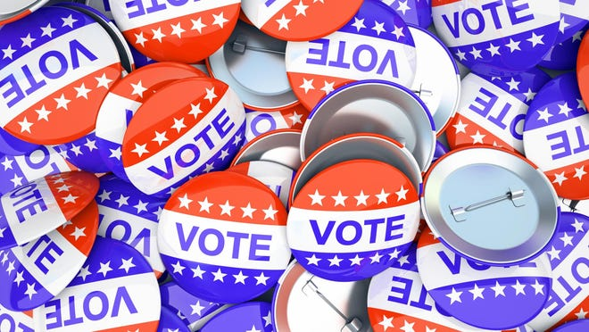 Getty Images/iStockphoto American vote buttons illustration
