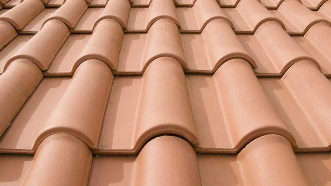 Tile roofs can crack when walked on.