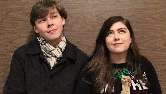 "Tony DeLousia and Kassidy Shea star in the ""Her Heart"" portion of SPARE Production's ""Almost, Maine."""