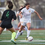 Rocky Mountain High School freshman Madison Williams leads the Lobos in goals after recovering from a broken leg.
