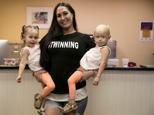 Sara Bryant first saw her two-year-old twin daughters,