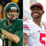 Baylor's Seth Russell and Ohio State's Braxton Miller