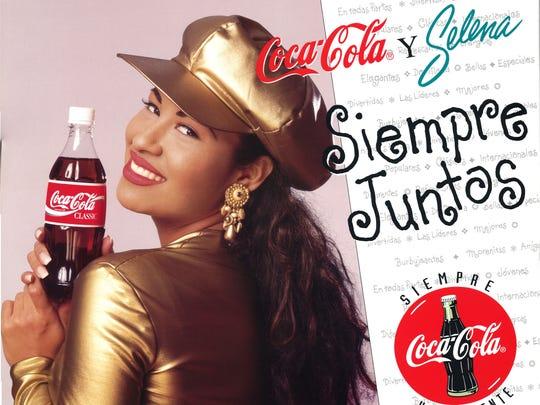 Selena Coca-Cola poster