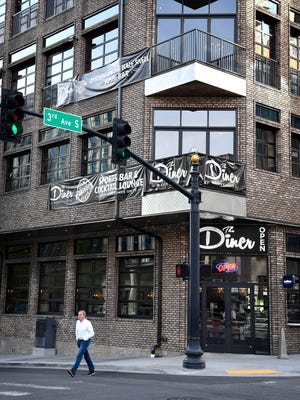 The Diner Nashville at 200 Third Avenue South.  The restaurant might be getting special clearance from the state to sell alcohol for 23 hours a day -- at all times except 3 a.m. to 4 a.m.  Thursday April 13, 2017, in Nashville.