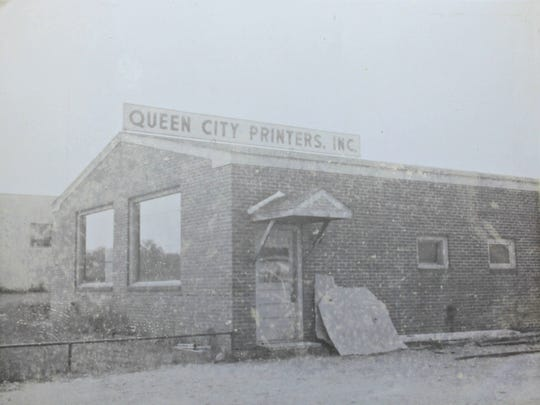 Queen City Printers in Burlington, pictured sometime shortly after the company opened.