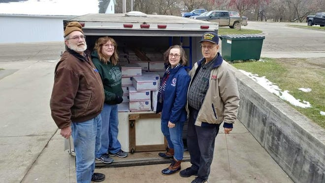 The 2019 Treasures for Troops drive sent a record 300 boxes overseas.