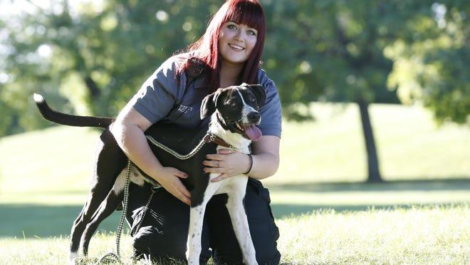 Animal control officer Rachel Hyatt at Rochester Animal Services.