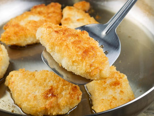 Golden Fried Fish in Pan