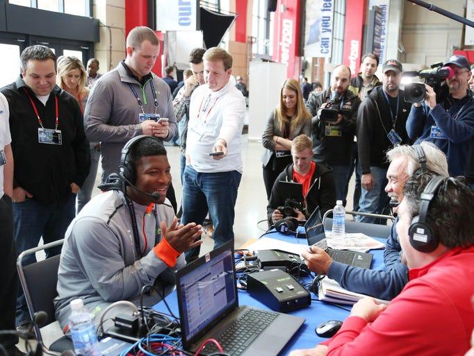 Florida State QB Jameis Winston does a radio interview